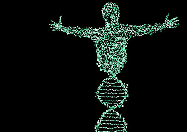 Illustrazione metaforica DNA umano