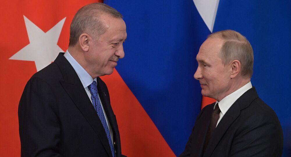 Erdogan e Putin (foto d'archivio)