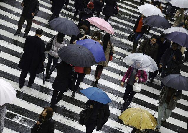 Pioggia in Giappone