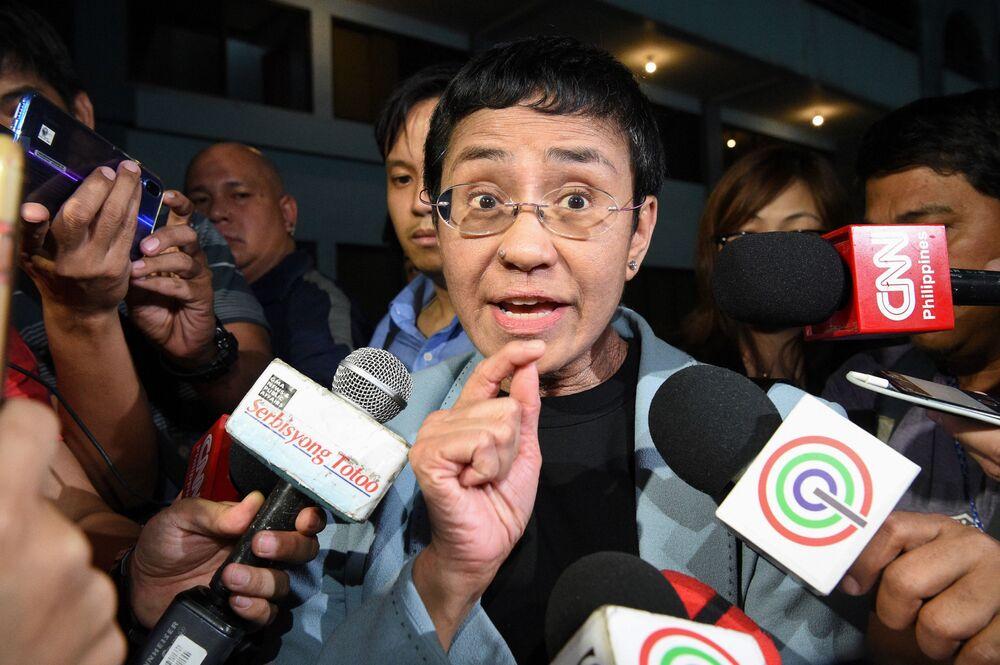 La giornalista filippina Maria Ressa