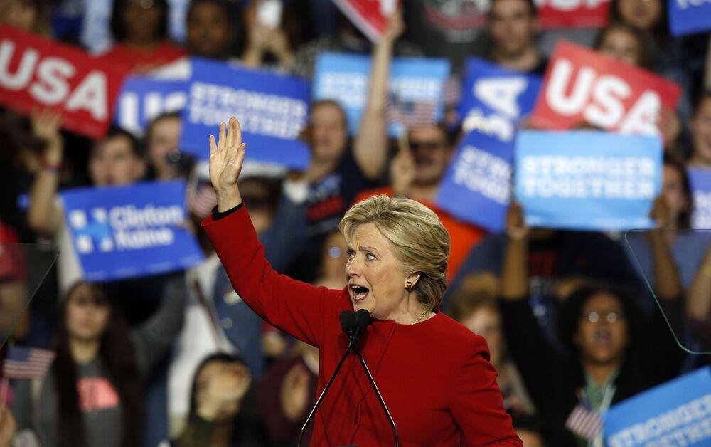 Ex segretario di Stato americano ed ex First Lady Hillary Clinton