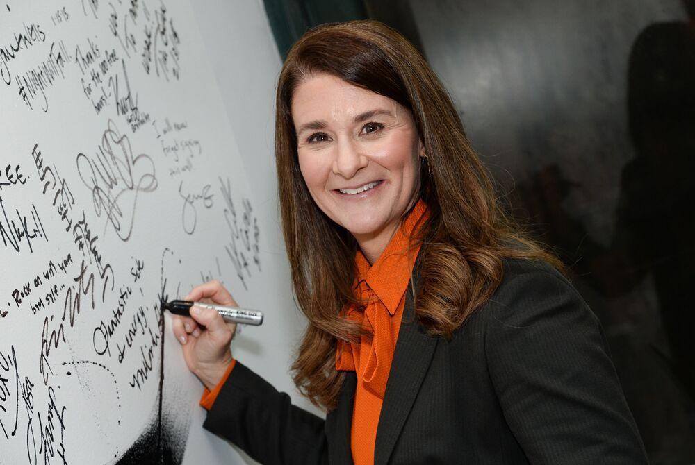 La filantropa americana Melinda Gates
