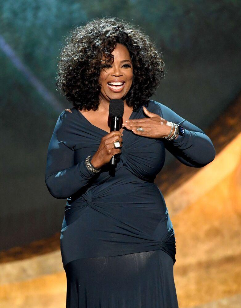 Oprah Winfrey, conduttrice televisiva statunitense