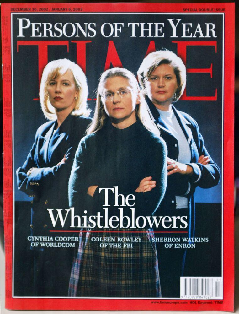 Le «Whistleblowers» Sherron Watkins, vice presidente della Enron; Cynthia Cooper, di WorldCom; Coleen Rowley, agente dell'Fbi che ha svelato gli errori commessi dall'agenzia prima degli attacchi terroristici dell'11 settembre