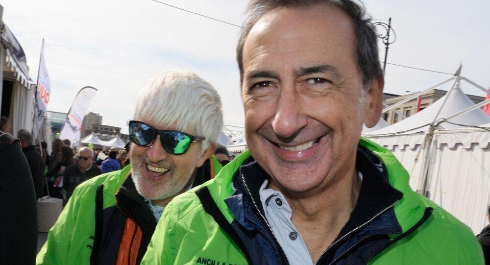 Il giornalista Beppe Severgnini e il sindaco di Milano, Giuseppe Sala, alla 48esima Barcolana