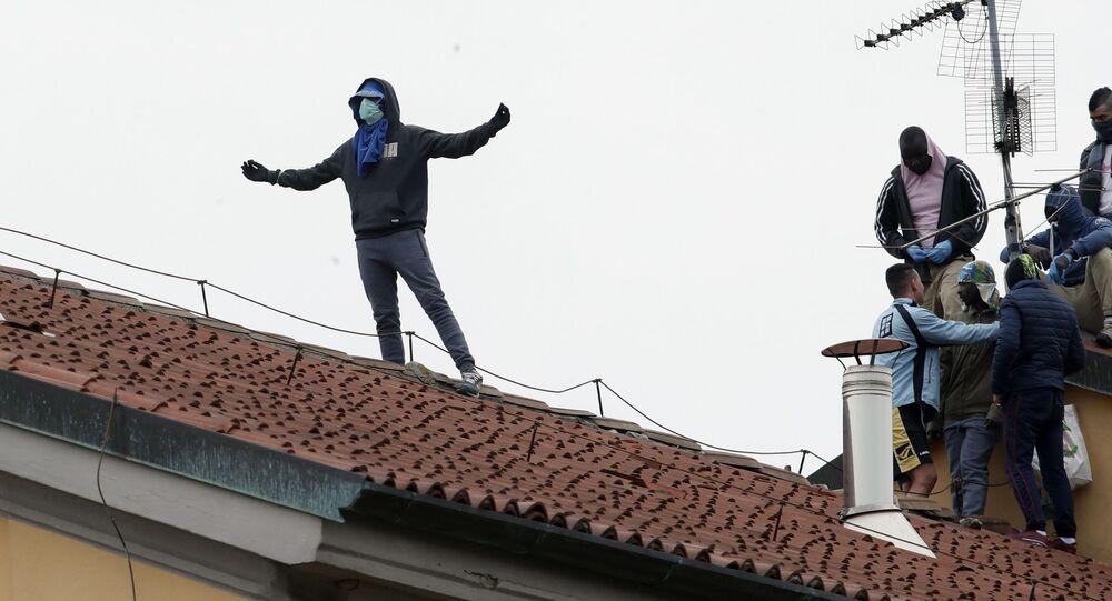 Rivolta in carcere San Vittore a Milano