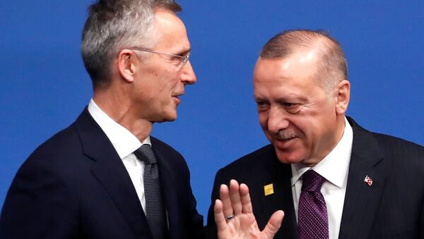 Jens Stoltenberg e Recep Tayyip Erdogan, 2019 - Sputnik Italia