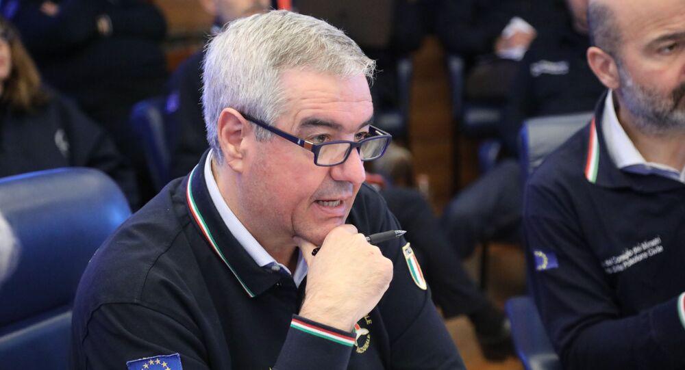 Il Capo del Dipartimento della Protezione Civile Angelo Borrelli