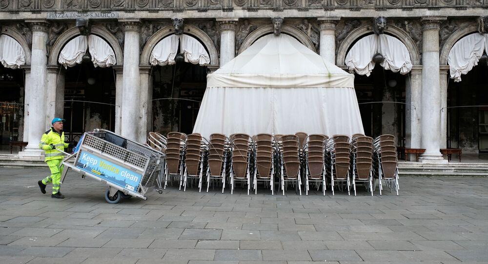 Sulla piazza San Marco a Venezia