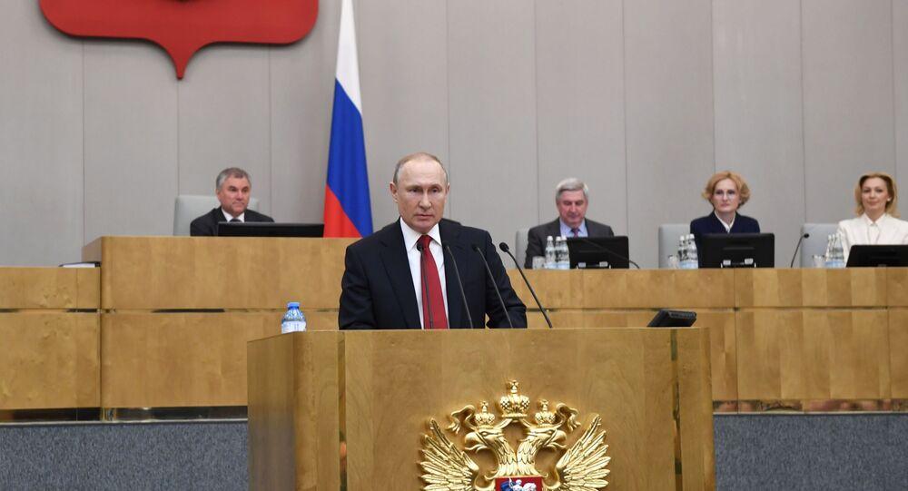 Putin interviene alla Duma di Stato russa