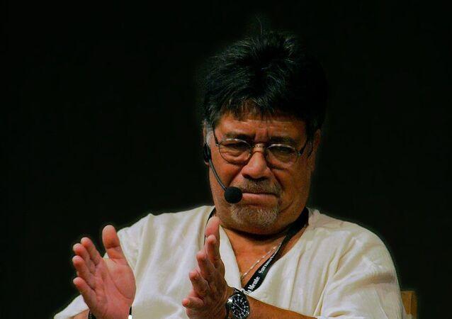 Lo scrittore cileno Luis Sepúlveda