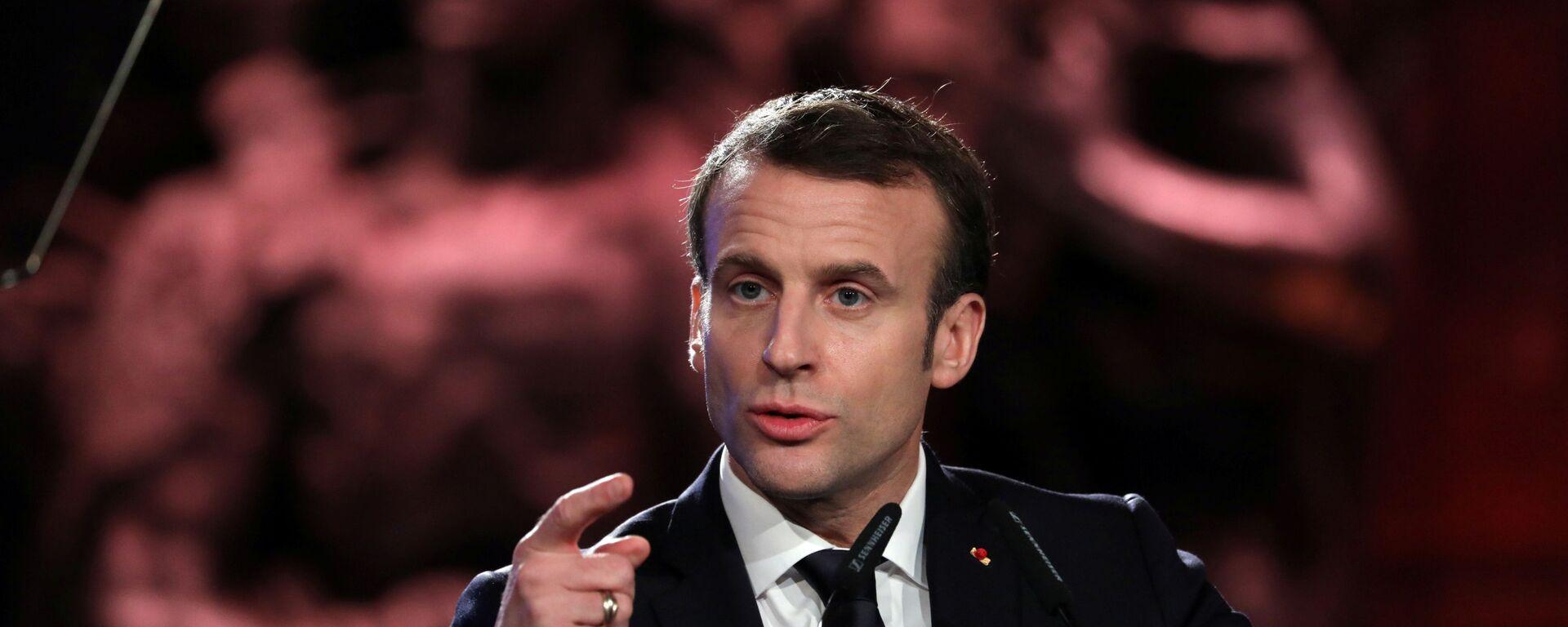Presidente della Francia, Emmanuel Macron - Sputnik Italia, 1920, 25.07.2021