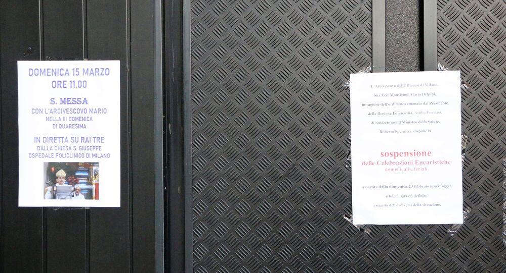 Avviso di chiusura di chiesa
