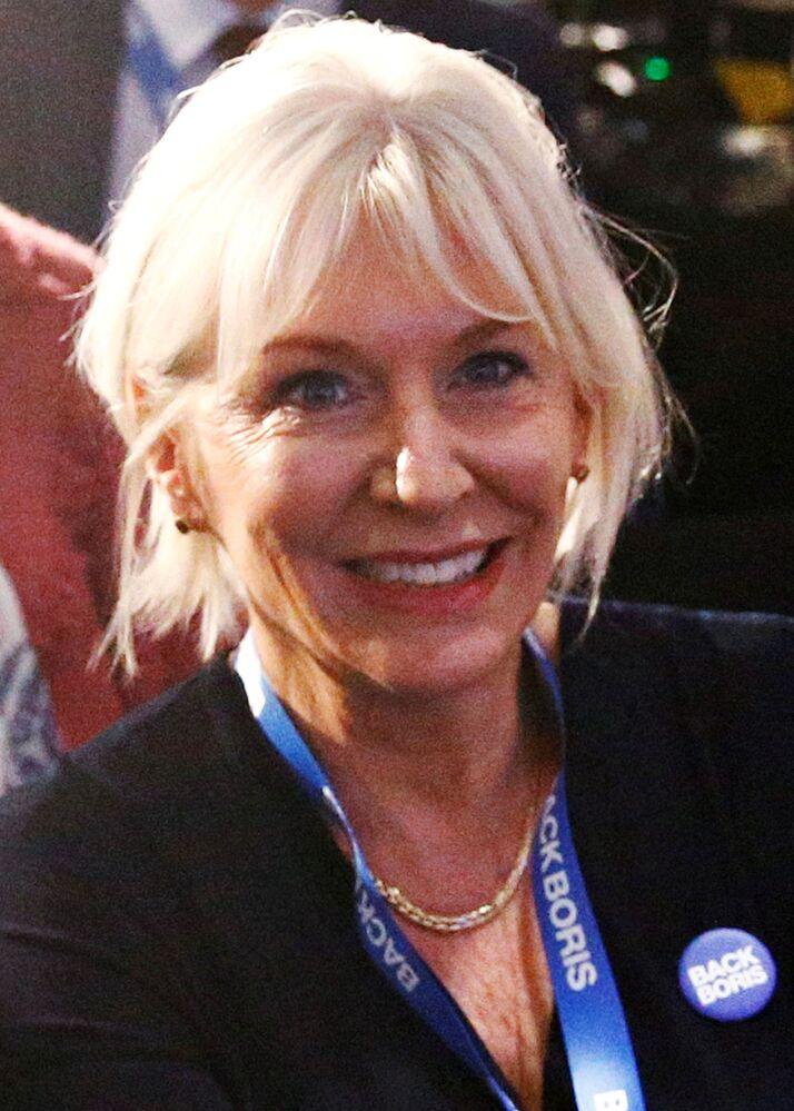 Nadine Dorries, politica britannica del Partito Conservatore, membro del Parlamento britannico e Sotto segretario di Stato per la salute e gli affari sociali del Regno Unito dal 27 luglio 2019