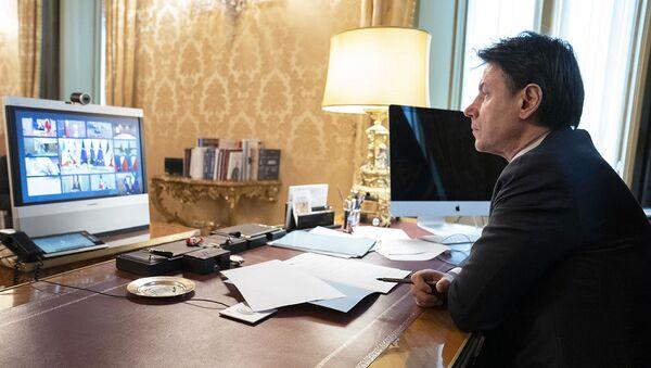 Il Presidente Conte partecipa in videoconferenza alla riunione del Consiglio europeo sul coronavirus - Sputnik Italia