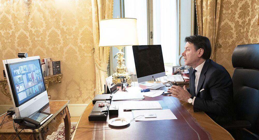 Il Presidente Conte partecipa in videoconferenza alla riunione del Consiglio europeo sul coronavirus