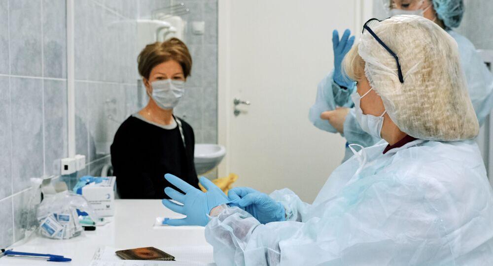 Infermiere in una clinica a San Pietroburgo