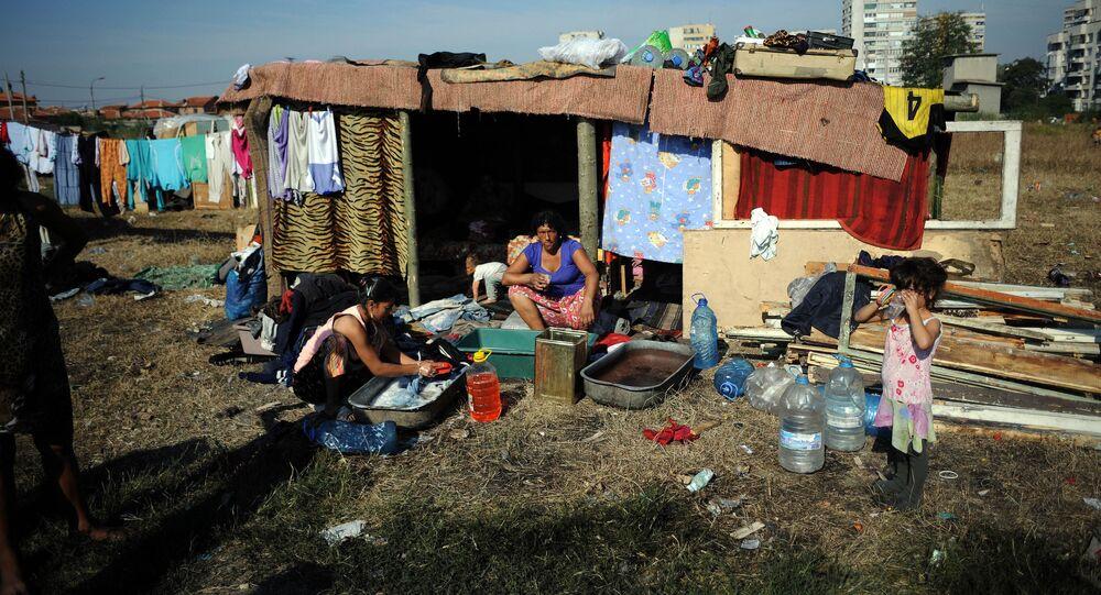 L'abitazione di una famiglia rom in Bulgaria