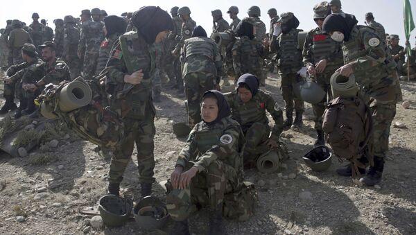 Forze armate dell'Afghanistan durante le esercitazioni - Sputnik Italia