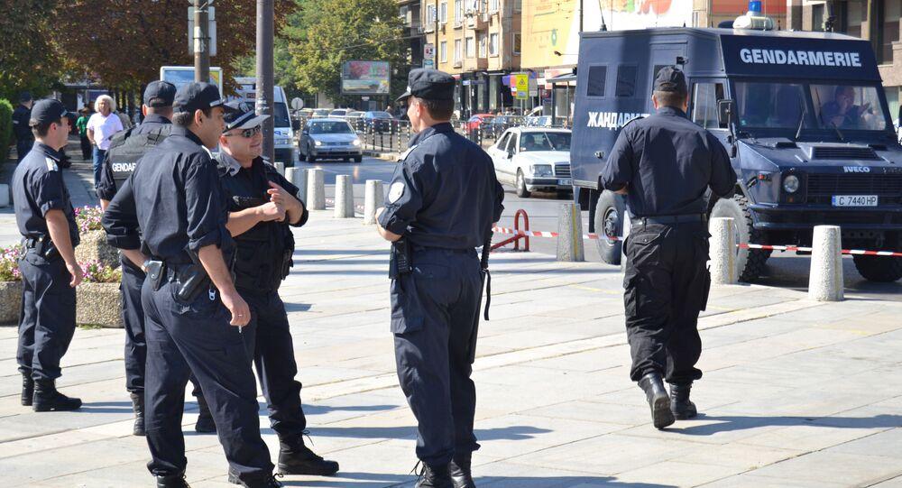 La polizia in Bulgaria