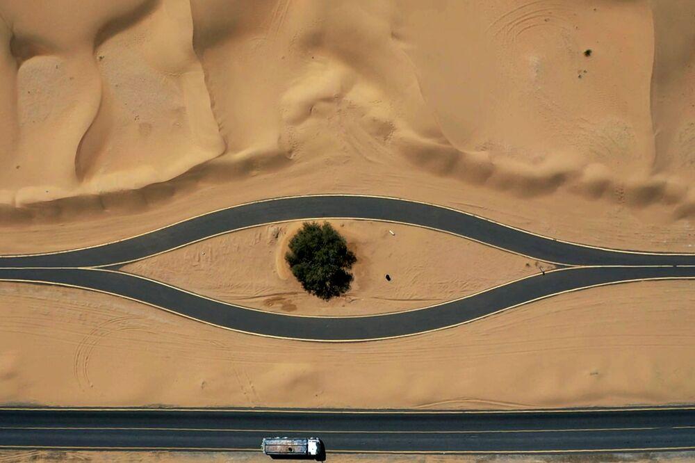 La pista ciclabile di al-Qudra, Dubai.