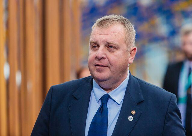 Krasimir Karakachanov, il ministro della Difesa della Bulgaria
