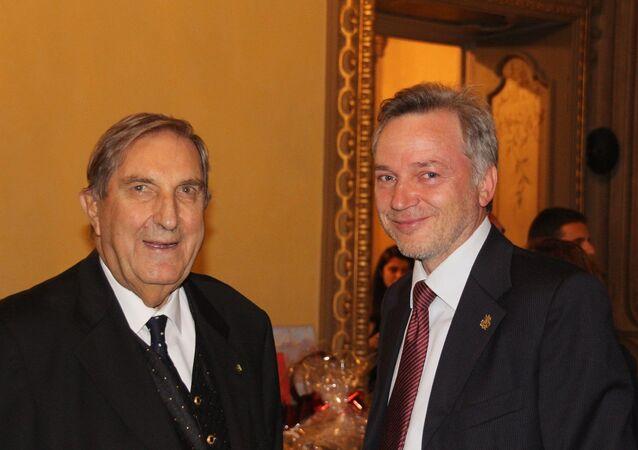 Rosario Alessandrello ed Evgeny Utkin alla Serata Russa del 25/9/2019 in palazzo Visconti a Milano