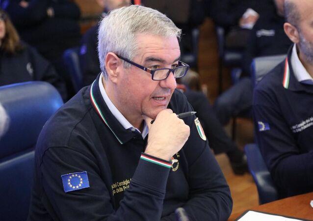 Il capo dipartimento della Protezione Civile Angelo Borrelli