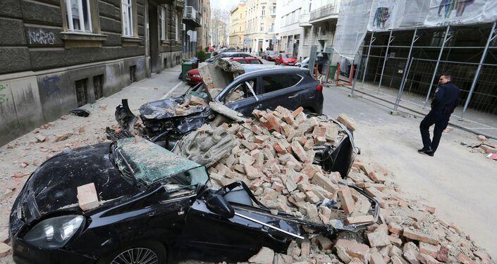 Le conseguenze del terremoto a Zagabria
