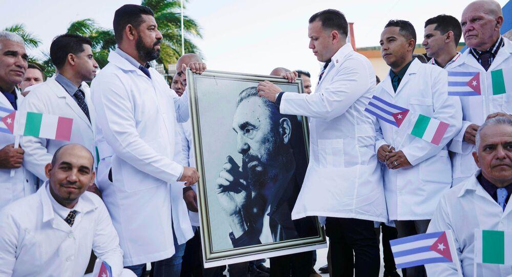 Medici cubani in partenza per l'italia
