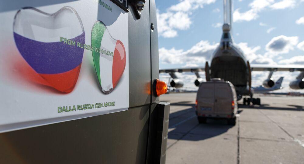 Aiuti russi all'Italia per fronteggiare emergenza coronavirus