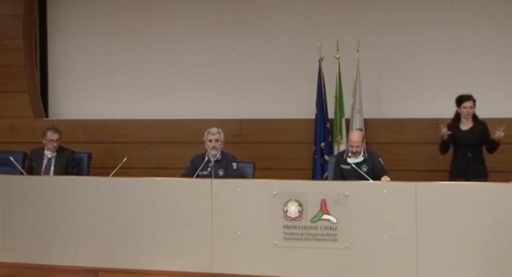 Conferenza stampa dei direttori dei dipartimenti della Protezione Civile Agostino Miozzo e Luigi D'angelo sull'emergenza Coronavirus