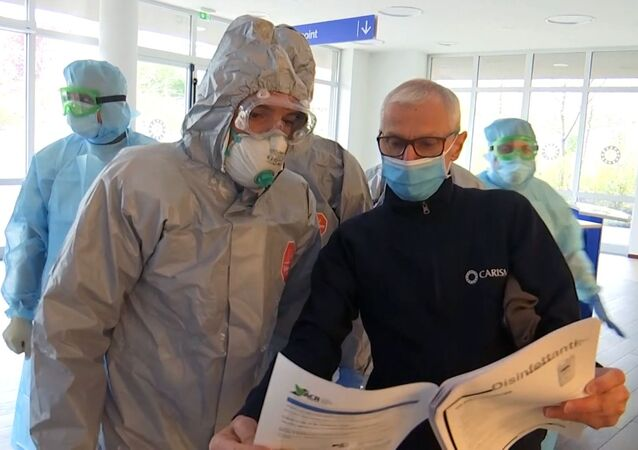 Una pensione a Bergamo visitata dai medici militari russi