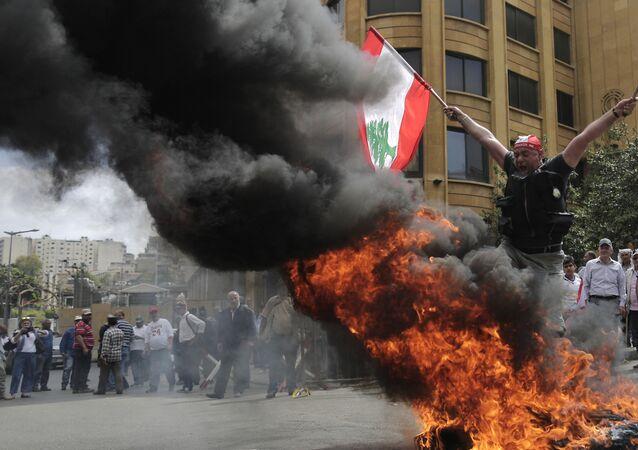 Proteste antigovernative a Beirut, in Libano