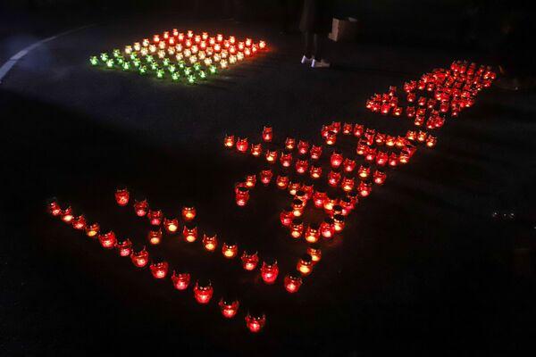 Beslan, le candele accese in segno di sostegno all'Italia - Sputnik Italia