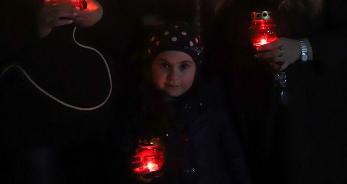 Beslan, le candele accese in segno di sostegno all'Italia