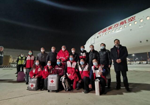 Team di esperti cinesi arrivato in Italia il 13 marzo 2020
