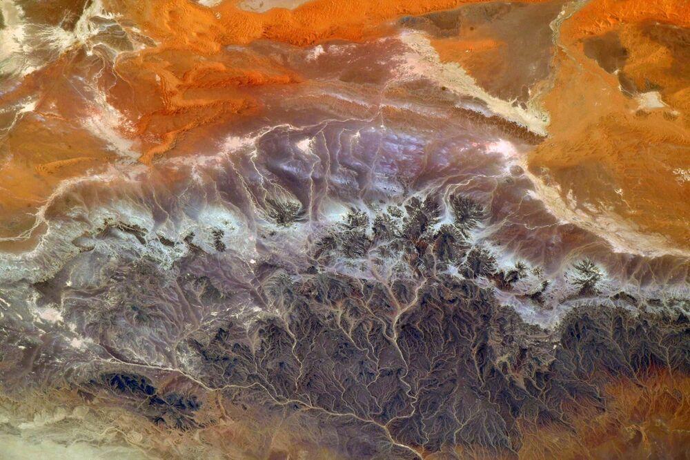 Vista dell'Algeria dalla Stazione Spaziale Internazionale