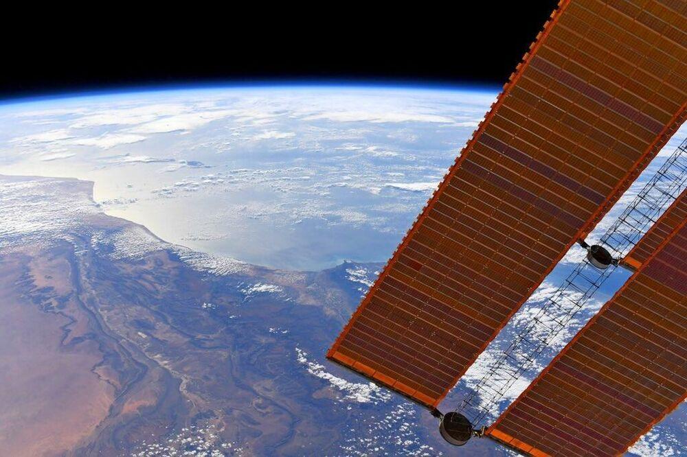 Vista della Terra dalla Stazione Spaziale Internazionale