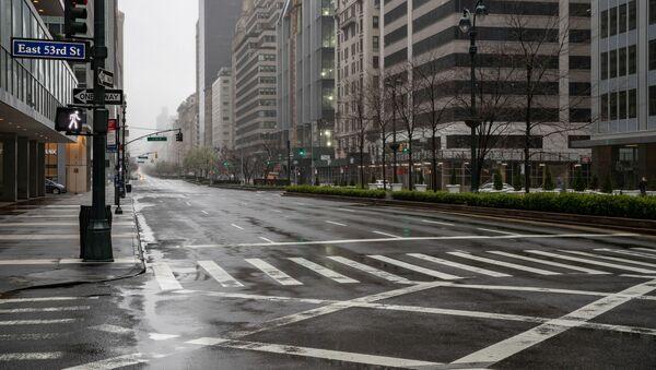 Strada svuota, New York - Sputnik Italia