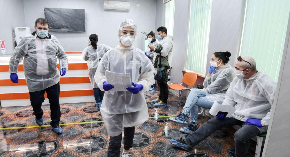 Il test su coronavirus condotto a Sinferopoli