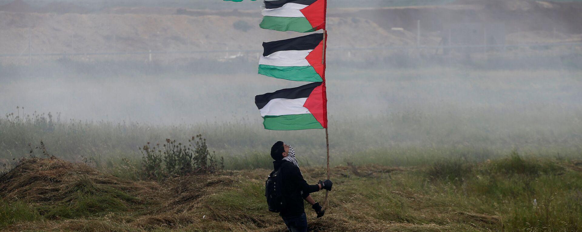 Le proteste dei palestinesi nella Striscia di Gaza al confine con l'Israele - Sputnik Italia, 1920, 26.05.2021