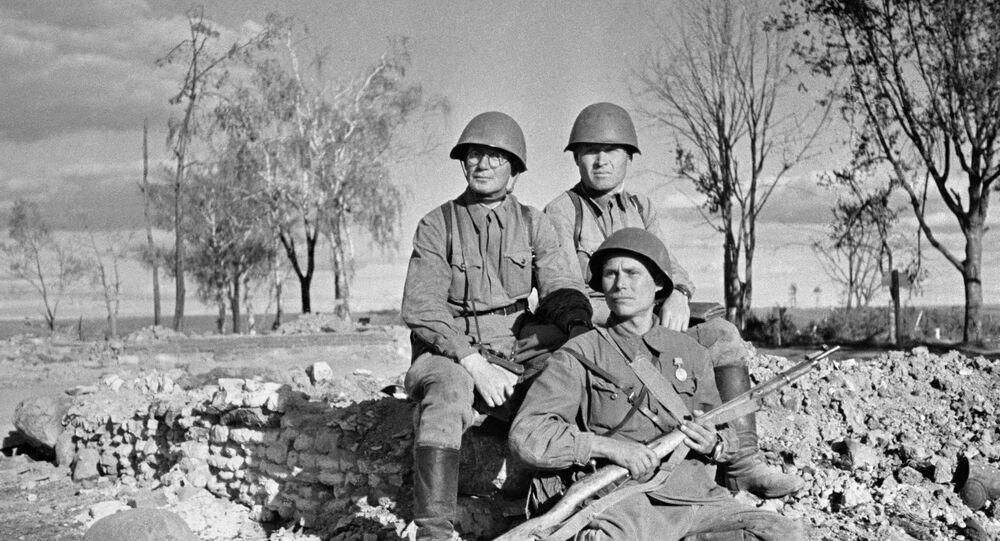 Soldati dell'Armata Rossa al fronte