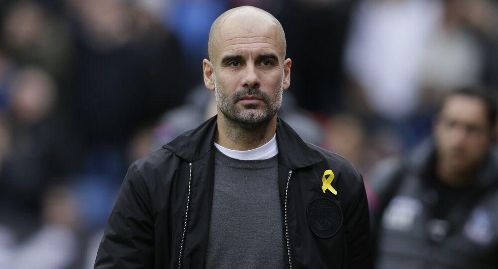 Il tecnico del Manchester City Pep Guardiola