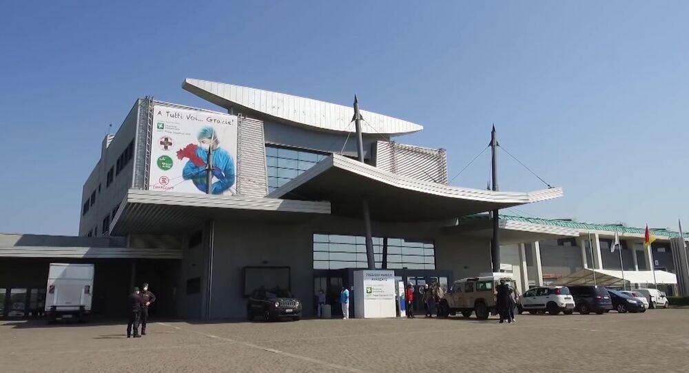 L'ospedale da campo a Bergamo in cui lavoreranno i specialisti italiani e russi