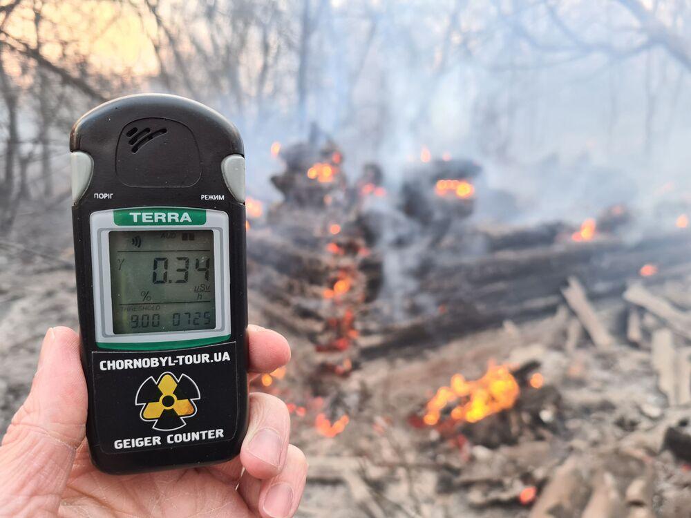 Incendi boschivi nella zona di alienazione di Chernobyl hanno provocato un balzo delle radiazioni.