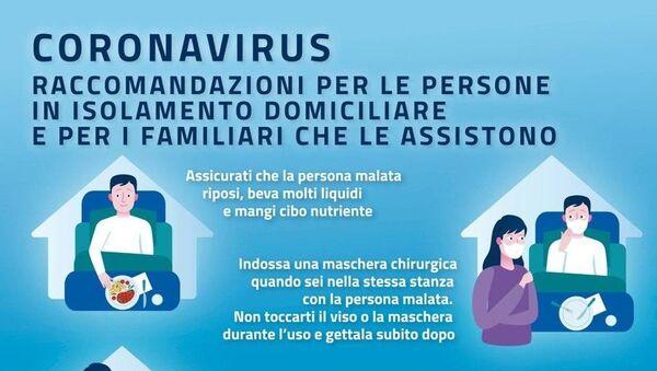 Coronavirus, suggerimenti per chi assiste in casa un familiare in isolamento - Sputnik Italia