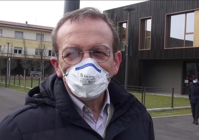 La reazione del sindaco di Nembro, Claudio Cancelli
