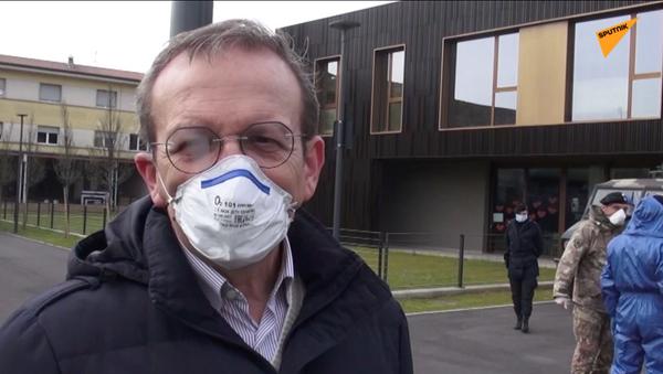 La reazione del sindaco di Nembro, Claudio Cancelli - Sputnik Italia