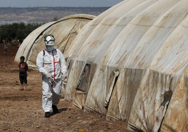 Disinfezione in Siria contro COVID-19